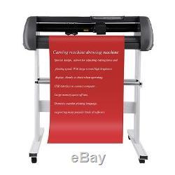 34 Vinyl Cutter Sign Cutting Plotter Printer Sticker Craft Cut 3 Blades On Sale