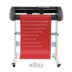 34 Vinyl Cutter Sign Cutting Plotter Printer Sticker Craft Decal Making Kit TO2