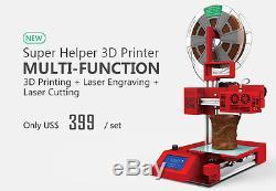 3in1 3DPrinter Laser Engraving Cutting Hybrid Multi Function Portable 3D Printer
