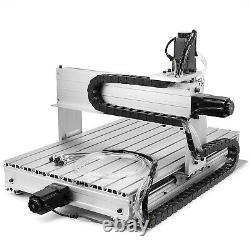 4 AXIS MACH3 6040Z CNC Router Engraver Drill Milling Machine Wood Art 1.5KW VDF