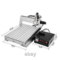 4 Axis CNC Router 6040 Machine 4 Rotating Axis Milling 1605 Ball Screw US Stock