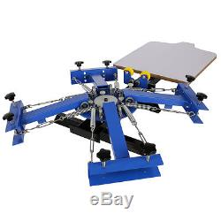 4 Color 1 Station Silk Screen Printing Machine & 18 X 18 Flash Dryer Drying