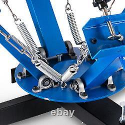 4 Color 1 Station Silk Screen Printing Machine Equipment T-Shirt Press Kit DIY