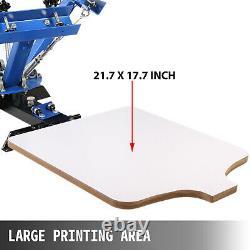 4 Color 1 Station Silk Screen Printing Machine T-Shirt Press Equipment DIY Kits