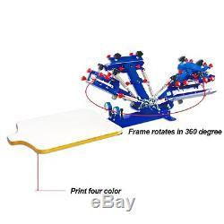 4 Color 1 Station Silk Screen Printing Press Fine Tuning T-shirtScreen Printer