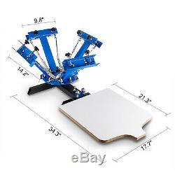 4 Color 1 Station Silk Screen Printing Pressing Machine Printer Screening Print