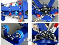 4 Color 2 Station Silk Screen Printing Kit Machine & DIY Materials Exposure US