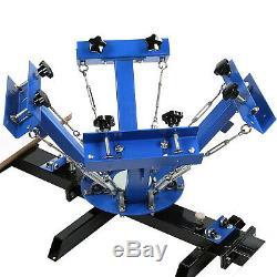 4 Color 2 Station Silk Screen Printing Machine T-Shirt Press Kit Equipment DIY