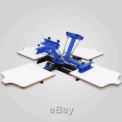 4 Color 4 Station Silk Screen Printing Press Equipment Machine T-shirt Printer