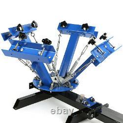 4 Color Screen Printing Machine + 6pcs Frame 12x16 Aluminum Silk 110 Mesh