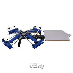 4 Color Screen Printing Press Kit Machine 1 Station Silk Screening Pressing DIY