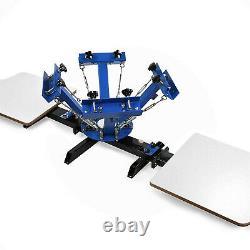 4 Color Silk Screen Printing Kit Press Equipment T-Shirt Machine DIY 2 Station