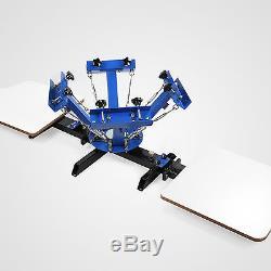 4 Color Silk Screen Printing Machine 2 Station Press Printer DIY Shirt Equipment