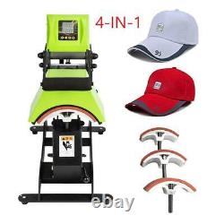 4-IN-1 Digital Control Hat Cap Heat Press Machine Sublimation Transfer 110V 650W