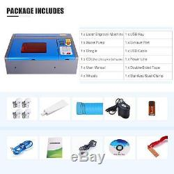 40W CO2 Laser Engraver Engraving Cutting 12x 8 Upgraded LCD Red Dot Guidance