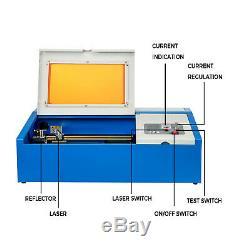 40W CO2 Laser Engraver Machine 128 Laser Engraving Cutting Machine Cutter USB