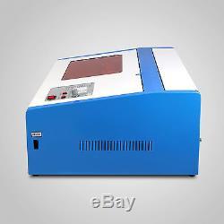 40W CO2 Laser Engraving Cutting Machine Engraver Cutter USB Port High Precise