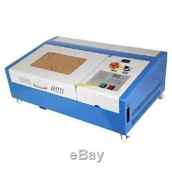 40W CO2 USB Laser Cutting Machine Engraving Engraver Wood Cutter with 4 Wheels