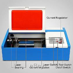40W USB CO2 LASER ENGRAVING CUTTING MACHINE ENGRAVER CUTTER With COOLING FAN
