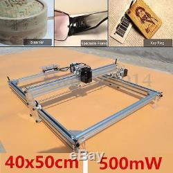 40x50cm Desktop Laser Engraving Machine DIY Logo Marking Printer Engraver 500mW