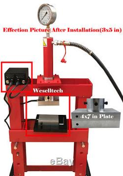 4x7 Rosin Press Plates with four heating rod&PID Ship by DHL received in 5 days
