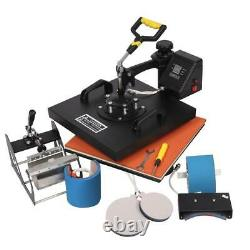 5 In 1 15 x15 Digital Heat Press Machine Sublimation for T-Shirt Mug Plate Hat