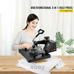 5 In 1 Heat Press Machine for T-Shirt 15 X 12 Combo Kit Sublimation Swing-away