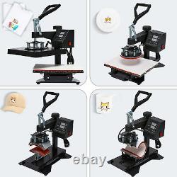 5 in 1 12X10 Heat Press Machine Digital Transfer For T-Shirt Mug Hat Plate Cap