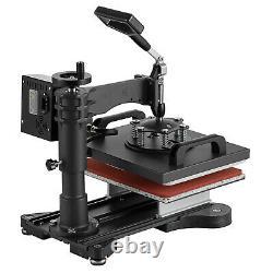 5 in 1 12x10 Digital T-Shirt Heat Press Sublimation Transfer Machine Mug Hat