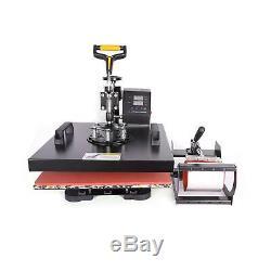 5 in 1 15 X 15 Heat Press 360 Degree Swivel Heat Press Machine Transfer Printer