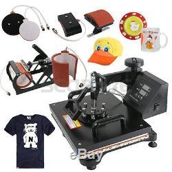 5 in 1 Digital Heat Press Machine Dye Sublimation Heat Press Transfer Mug Hat