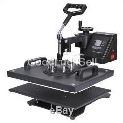 5 in 1 Digital Heat Press Transfer Machine T-Shirt Mug Cap Sublimation Printer