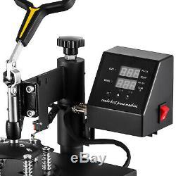 5 in 1 Digital T-Shirt Heat Press Sublimation Transfer Machine T-Shirt Mug Hat