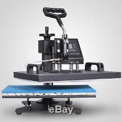 5 in 1 Dual Digital Transfer Sublimation Heat Press Machine for T-Shirt Mug Hat