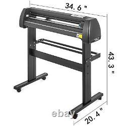 5 in 1 Heat Press 12x15 Vinyl Cutter Plotter Cutting 28 Graphics Cut Print