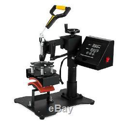 5 in 1 Heat Press Machine Digital Sublimation Swing Away T-Shirt /Plate Hat/Mug