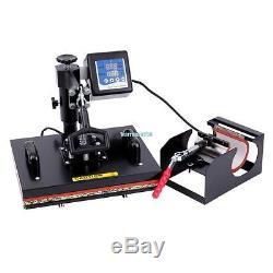5 in 1 Heat Press Machine Digital Transfer Sublimation for T-Shirt Mug Hat Plate
