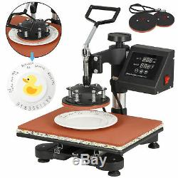 5 in 1 Heat Press Machine For T-Shirts 12x15 Combo Kit Sublimation Swing away