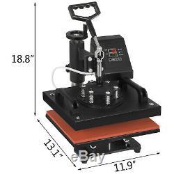 5 in 1 Heat Press Machine Swing Away Digital Sublimation T-Shirt /Mug/Plate Hat