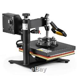 5 in 1 Heat Press Machine Swing Away Digital Sublimation T-Shirt /Mug/Plate Hat