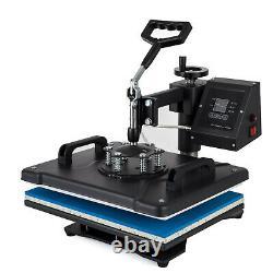 5 in 1 Heat Press Machine Swing Away T-Shirt Mug Hat 12x15 Digital Transfer