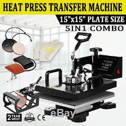 5 in 1 Heat Press Machine Transfer Digital Sublimation T-shirt Mug Plate Hat