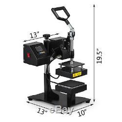 5 x 5 Dual LCD Rosin Heat Press Machine Sublimation Heating Elements Swing
