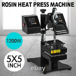 5 x 5 Rosin Heat Press Machine Dual Heating Elements High Pressure Swing-Arm