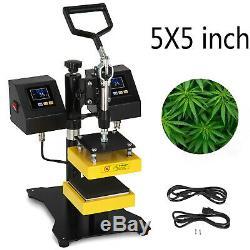 5 x 5 Rosin Heat Press Machine Dual Heating Elements Swing-Arm High Pressure