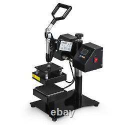 5 x 5 Rosin Heat Press Machine Dual Heating Elements Swing Away Heavy Duty