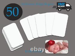 50 Pack Sublimation Metal Fridge Magnets blanks dye sub press cheapest on Ebay