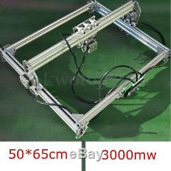 5065cm Area Mini Laser Engraving Cutting Machine Printer Kit Desktop 3000mW