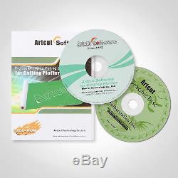 53 1350MM Vinyl Cutting PLotter Software 3 Blades Sticker Cutter Cut Function