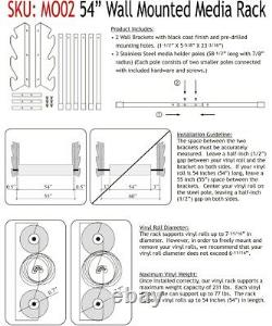 54 Media Storage Wall Rack Vinyl Rolls / Fabric 2 Pack